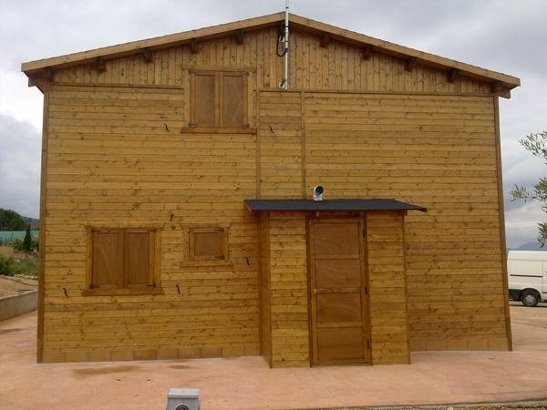 Casa de madera modelo natura plus - Casas de madera crevillente ...