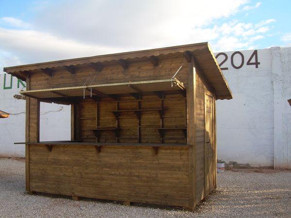 Chiringuitos prefabricadas de madera for Kioscos bares de madera somos fabricantes