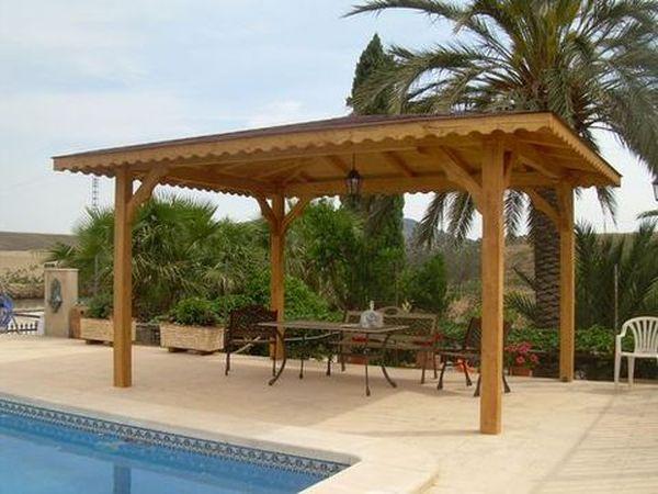 Pergolas prefabricadas de madera for Cenadores de madera para jardin