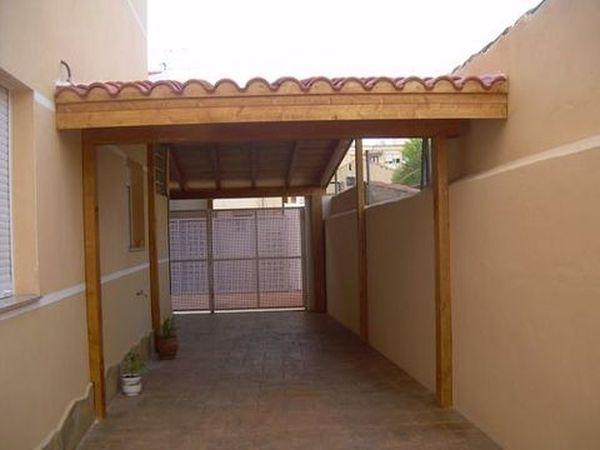 Garaje de madera modelo 02 for Modelos de techos para galerias
