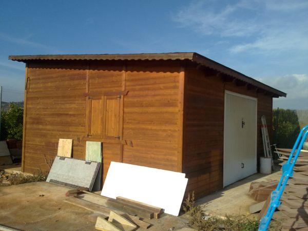 Garaje de madera modelo 03 for Modelos de garajes