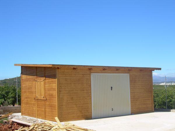 Garaje de madera modelo 03 for Garajes modelos