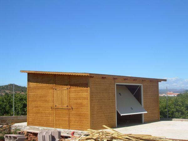 Garaje de madera modelo 03 - Casas de madera crevillente ...