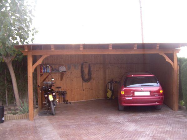 garaje de madera modelo 08