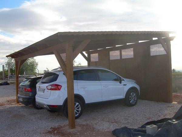 garaje de madera modelo 09
