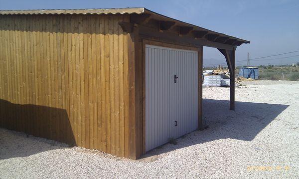 Garaje de madera modelo 10 for Garajes modelos