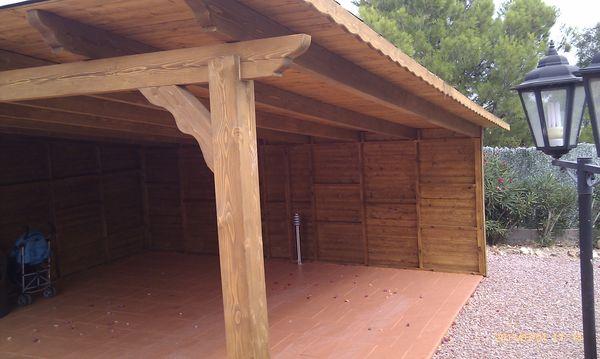 Garaje de madera modelo 13 for Garajes modelos