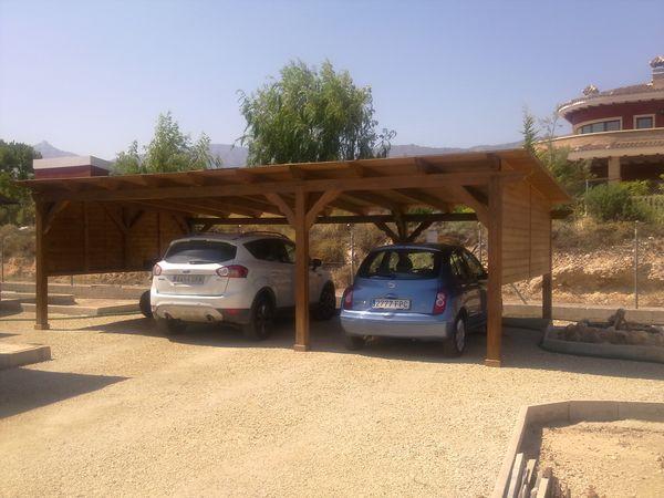 garaje de madera modelo 15