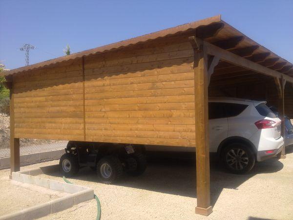 Garaje de madera modelo 15 - Garajes de madera baratos ...