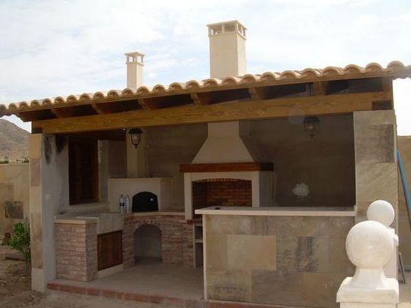 Pergolas para barbacoas modelo 03 for Techos de tejas para patios exteriores