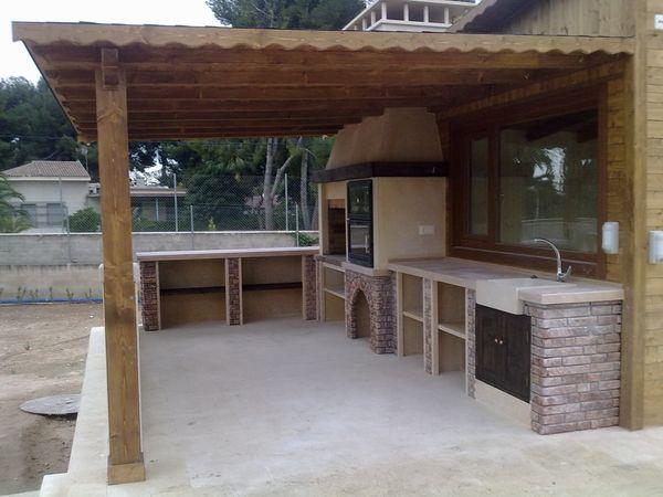 Pergolas para barbacoas modelo 06 for Tejados de madera modernos