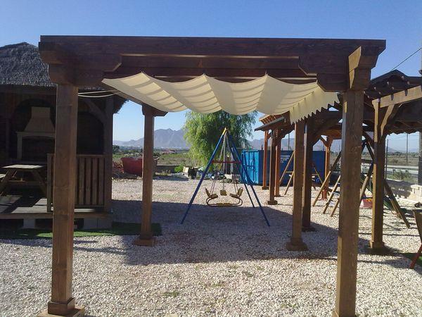 Pergolas prefabricadas de madera - Tipos de toldos para patios ...